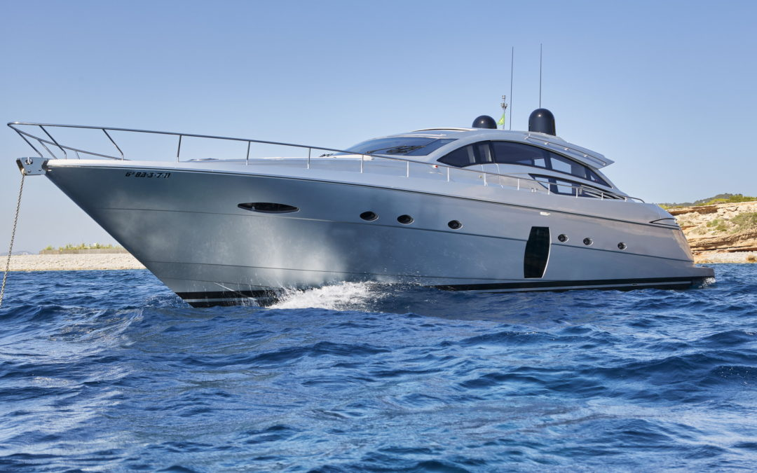 The Pershing 22m motor yacht