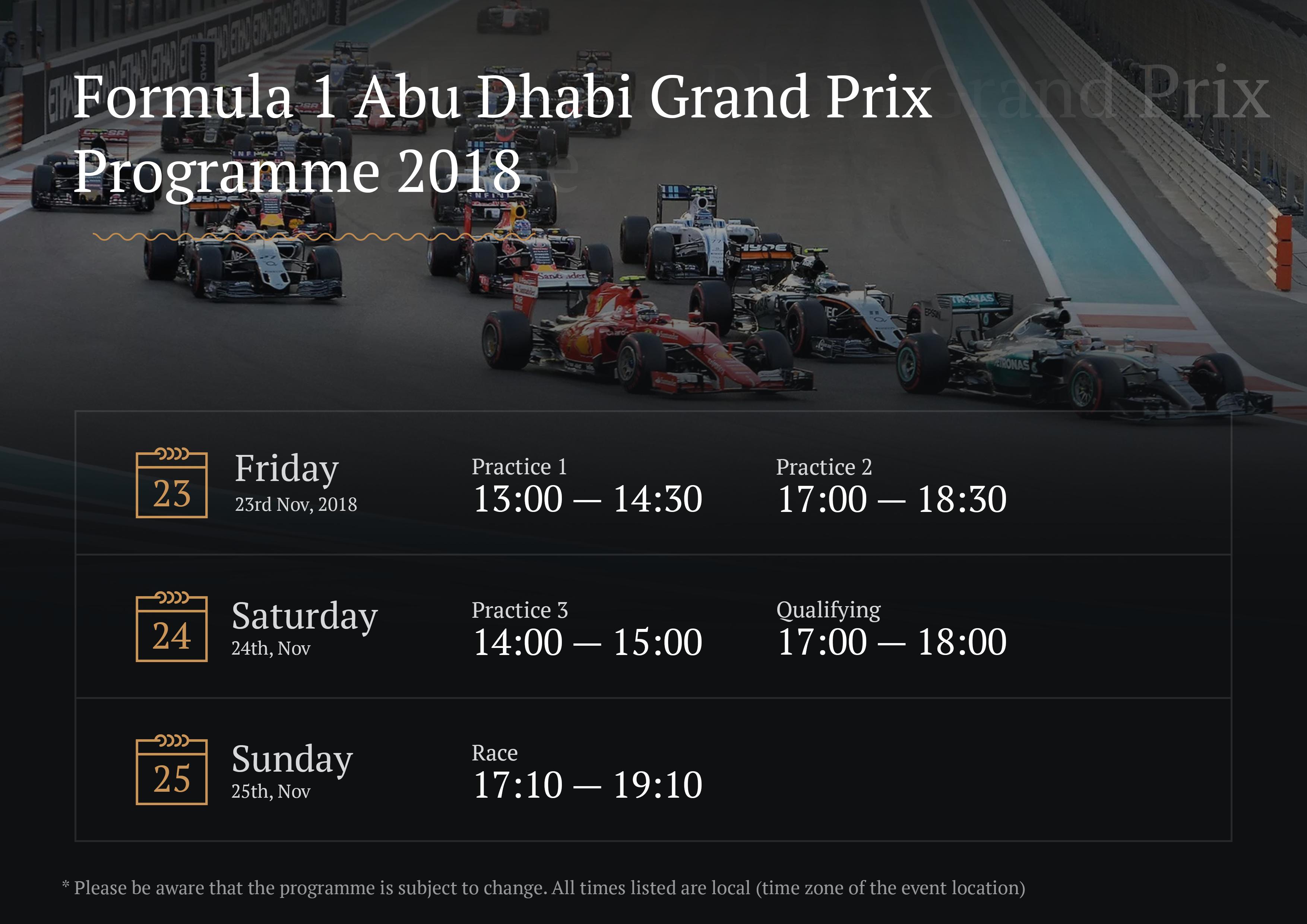 Formula 1 2018 Etihad Airways Abu Dhabi Grand Prix - Luxury Yachting